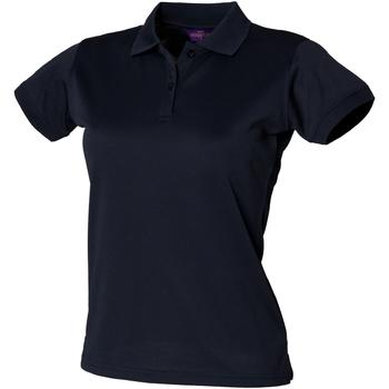 vaatteet Naiset Lyhythihainen poolopaita Henbury Coolplus Navy