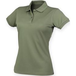 vaatteet Naiset Lyhythihainen poolopaita Henbury Coolplus Olive