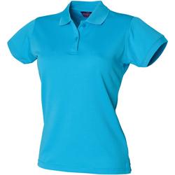 vaatteet Naiset Lyhythihainen poolopaita Henbury Coolplus Turquoise