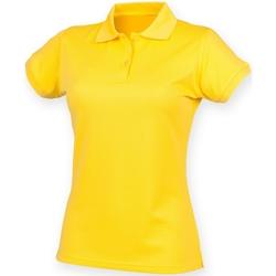 vaatteet Naiset Lyhythihainen poolopaita Henbury Coolplus Yellow