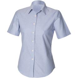 vaatteet Naiset Paitapusero / Kauluspaita Henbury HB516 Blue