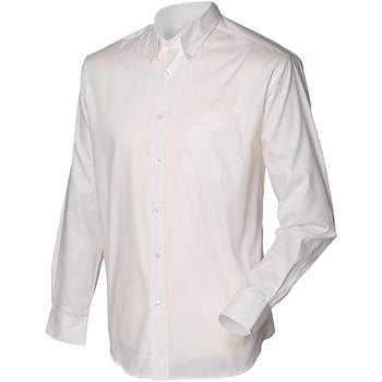 vaatteet Miehet Pitkähihainen paitapusero Henbury HB550 White