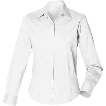 vaatteet Naiset Paitapusero / Kauluspaita Henbury HB551 White