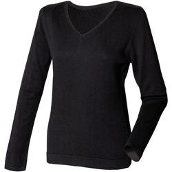 vaatteet Naiset Neulepusero Henbury HB721 Black