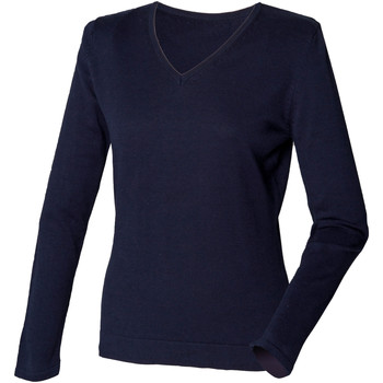 vaatteet Naiset Neulepusero Henbury HB721 Navy