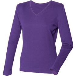 vaatteet Naiset Neulepusero Henbury HB721 Purple