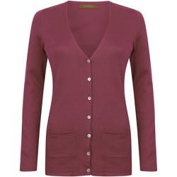 vaatteet Naiset Neuleet / Villatakit Henbury Fine Knit Burgundy