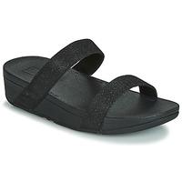 kengät Naiset Sandaalit FitFlop LOTTIE GLITZY SLIDE Black