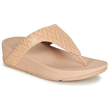 kengät Naiset Varvassandaalit FitFlop LOTTIE CHEVRON SUEDE Pink