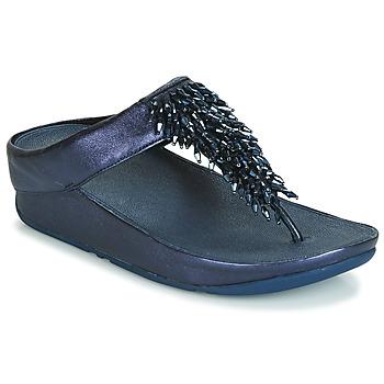 kengät Naiset Varvassandaalit FitFlop RUMBA TOE THONG SANDALS Blue