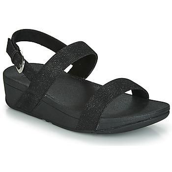 kengät Naiset Sandaalit FitFlop LOTTIE GLITZY BACKSTRAP SANDAL Black