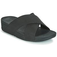 kengät Naiset Sandaalit FitFlop LULU SHIMMERLUX SLIDES Black