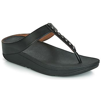 kengät Naiset Varvassandaalit FitFlop FINO TREASURE Black
