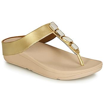 kengät Naiset Sandaalit ja avokkaat FitFlop FINO SHELLSTONE Kulta