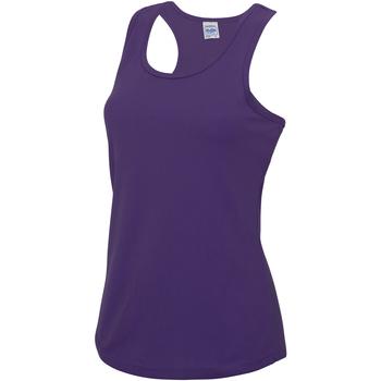 vaatteet Naiset Hihattomat paidat / Hihattomat t-paidat Awdis JC015 Purple