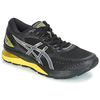 kengät Miehet Juoksukengät / Trail-kengät Asics GEL-NIMBUS 21 Black / Yellow