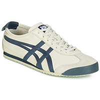 kengät Miehet Matalavartiset tennarit Onitsuka Tiger MEXICO 66 LEATHER Beige / Blue