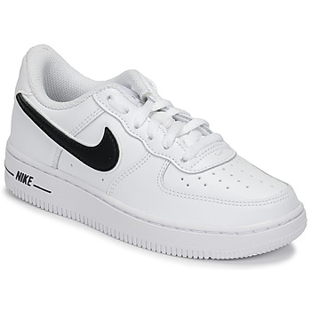 kengät Lapset Matalavartiset tennarit Nike AIR FORCE 1-3 PS White / Black