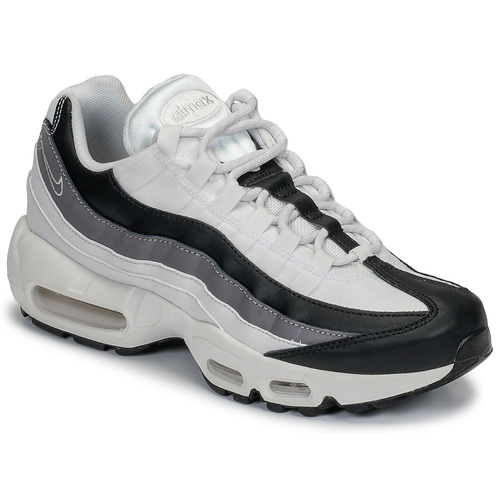 separation shoes 18bbf 7c29f kengät Naiset Matalavartiset tennarit Nike AIR MAX 95 W White   Black