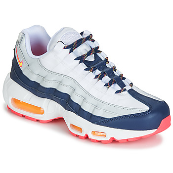 kengät Naiset Matalavartiset tennarit Nike AIR MAX 95 W White / Blue / Orange
