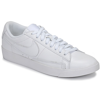 kengät Naiset Matalavartiset tennarit Nike BLAZER LOW LEATHER W White